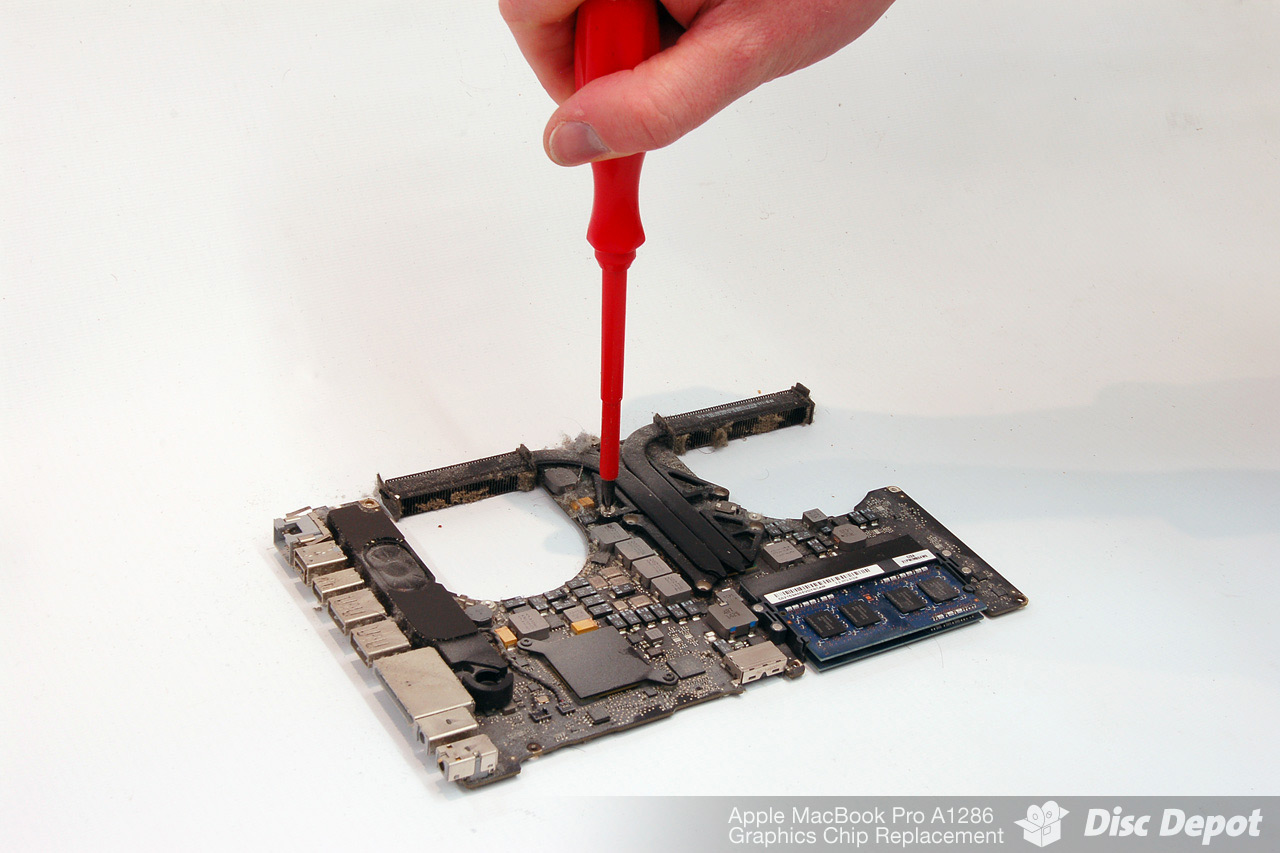 Apple MacBook Pro A1286 Graphics Chip Replacement Process
